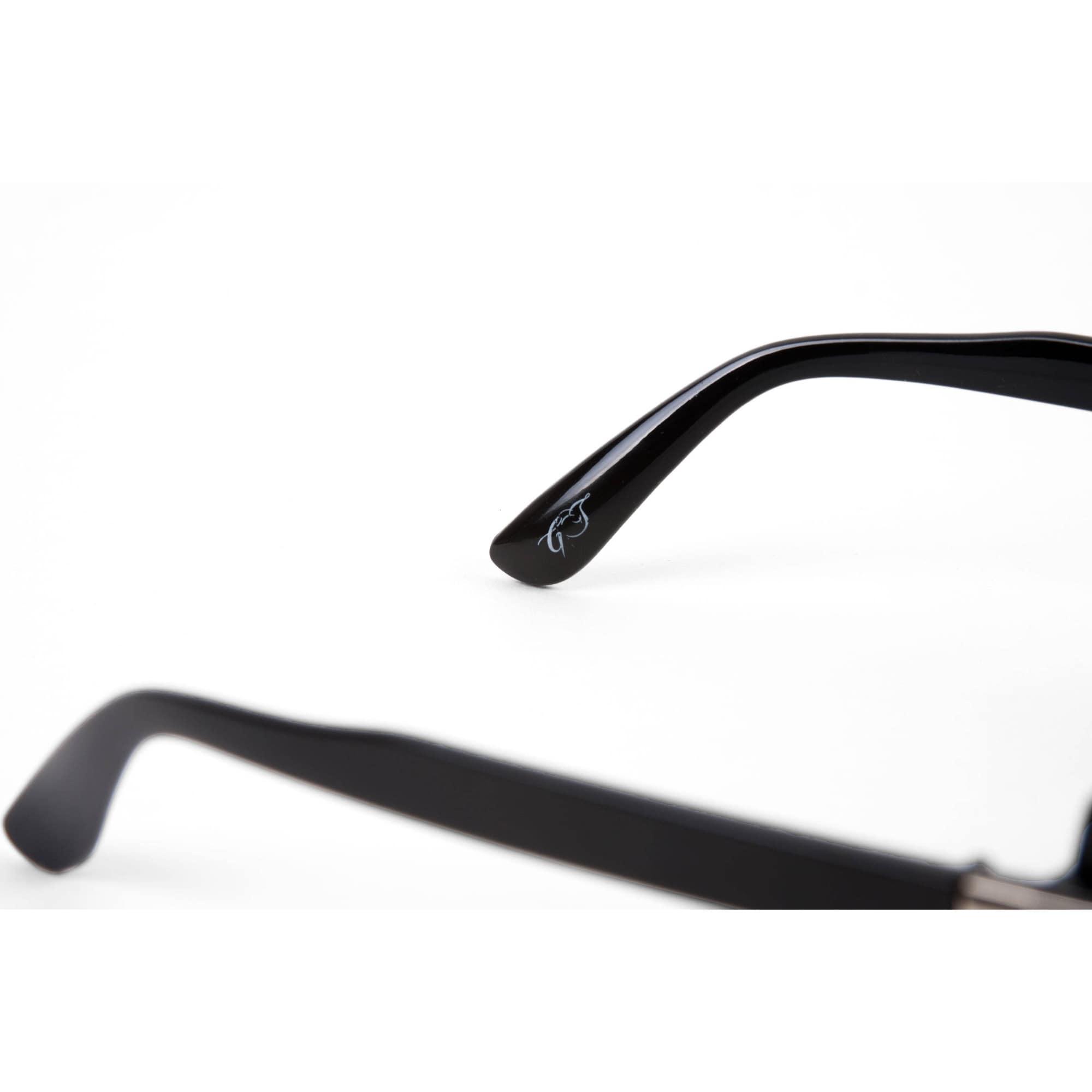 5fb90eeb92c Men CLASSIC RETRO HIP HOP RAPPER Style Clear Lens EYE GLASSES Black    Gold  Frame