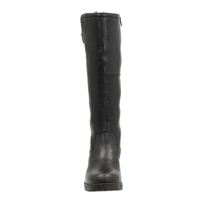 0c27ce49a0a Shop Clarks Women s Faralyn May Waterproof Knee High Boot Black Waterproof  Goat Full Grain Leather Cow Suede - Free Shipping Today - Overstock -  12551515
