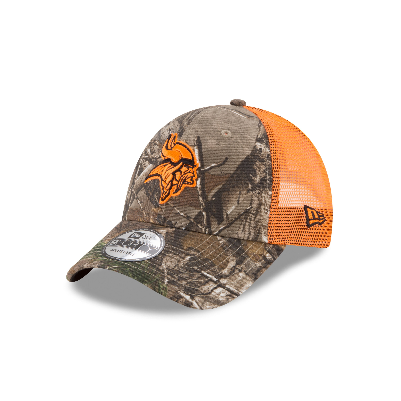 b51ce399 Minnesota Vikings RealTree 9FORTY Trucker Cap