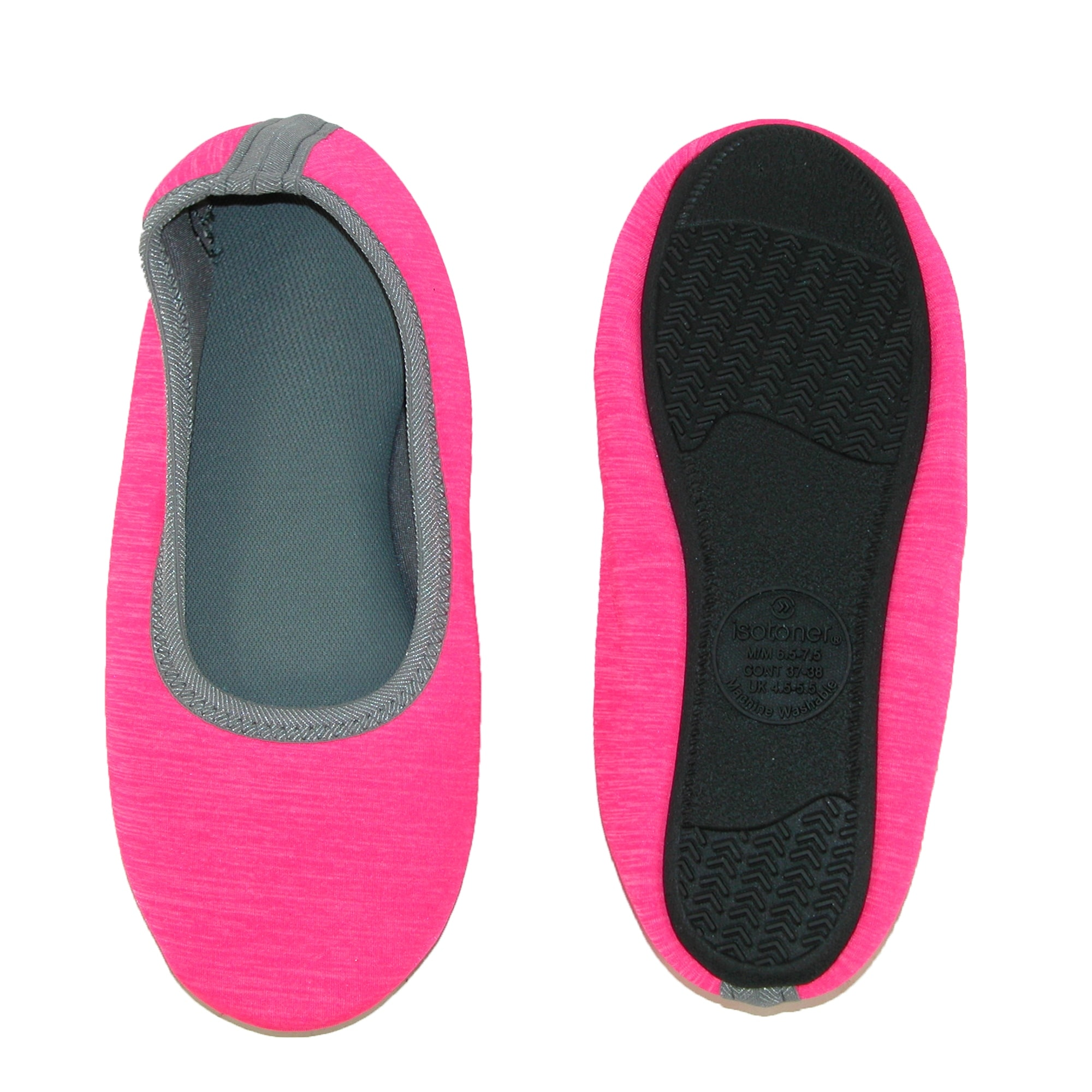 d448cbe7a79 Shop Isotoner Women s Heathered Sport Drew Ballerina Slippers - Free  Shipping On Orders Over  45 - Overstock - 14310609