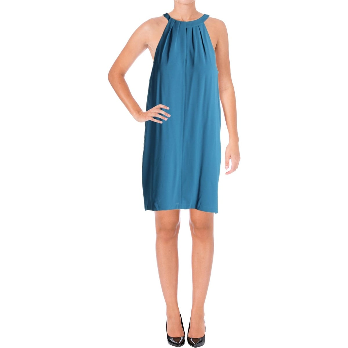74c004a534 Shop BCBG Max Azria Womens Tristyn Cocktail Dress Georgette Pleated ...