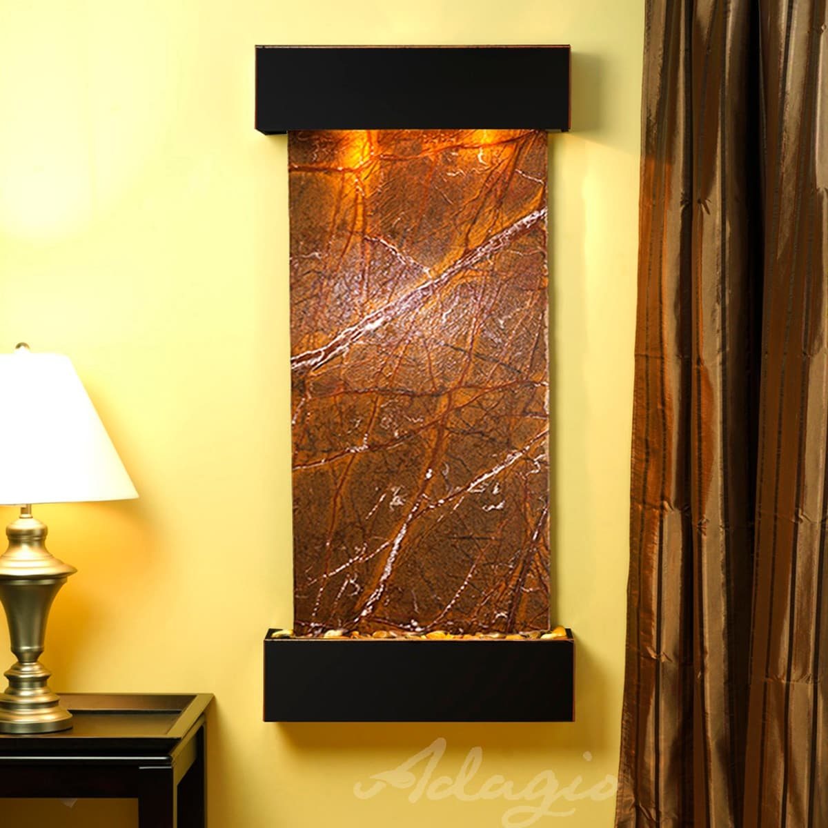 Shop Cascade Springs Fountain - Blackened Copper - Squared Edges ...