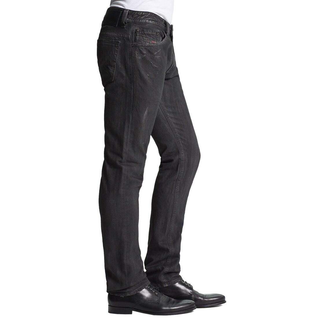 f2a5fabb Shop Diesel Mens Thavar Black Limited Edition Skinny Jeans 30x32 ...