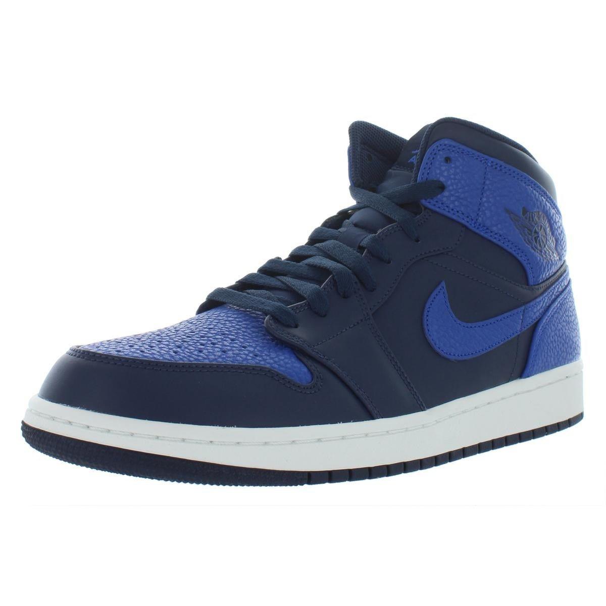530b5c7557e1 Shop Nike Mens Air Jordan 1 Mid Basketball Shoes Suede High Top - Free  Shipping Today - Overstock - 22025114