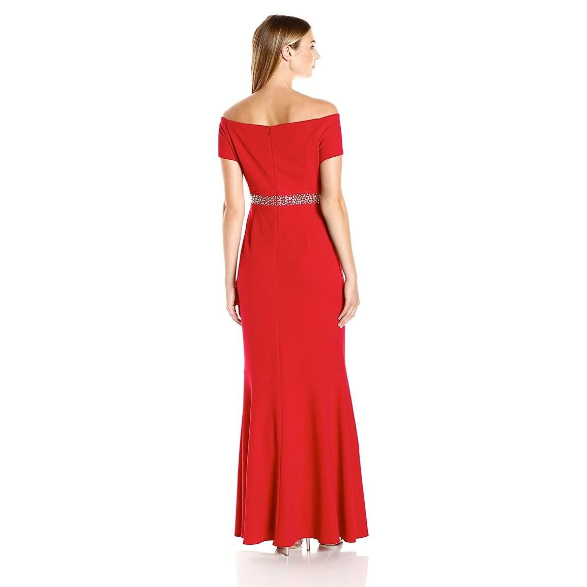 Shop Alex Evenings Off The Shoulder Embellished Mermaid Evening Gown ...