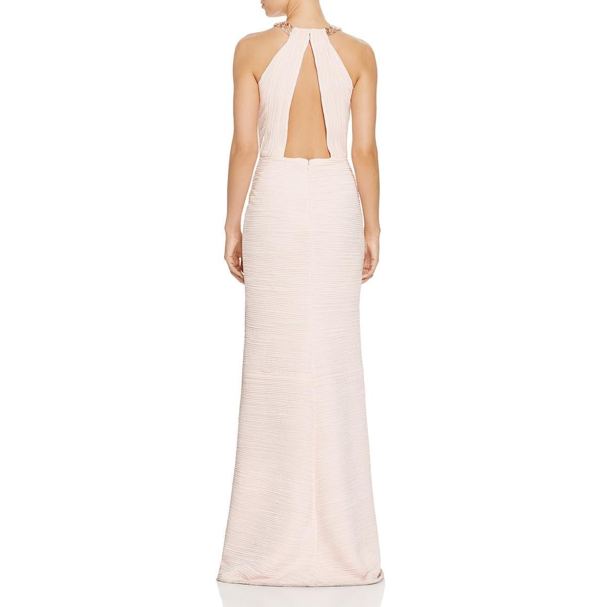 Shop Carmen Marc Valvo Womens Evening Dress Ruched Beaded - Free ...