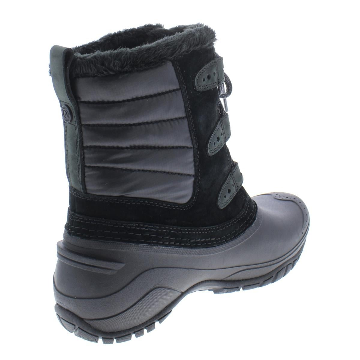 ca42310c9 The North Face Womens Shellista II Shorty Winter Boots Suede Faux Fur Lined
