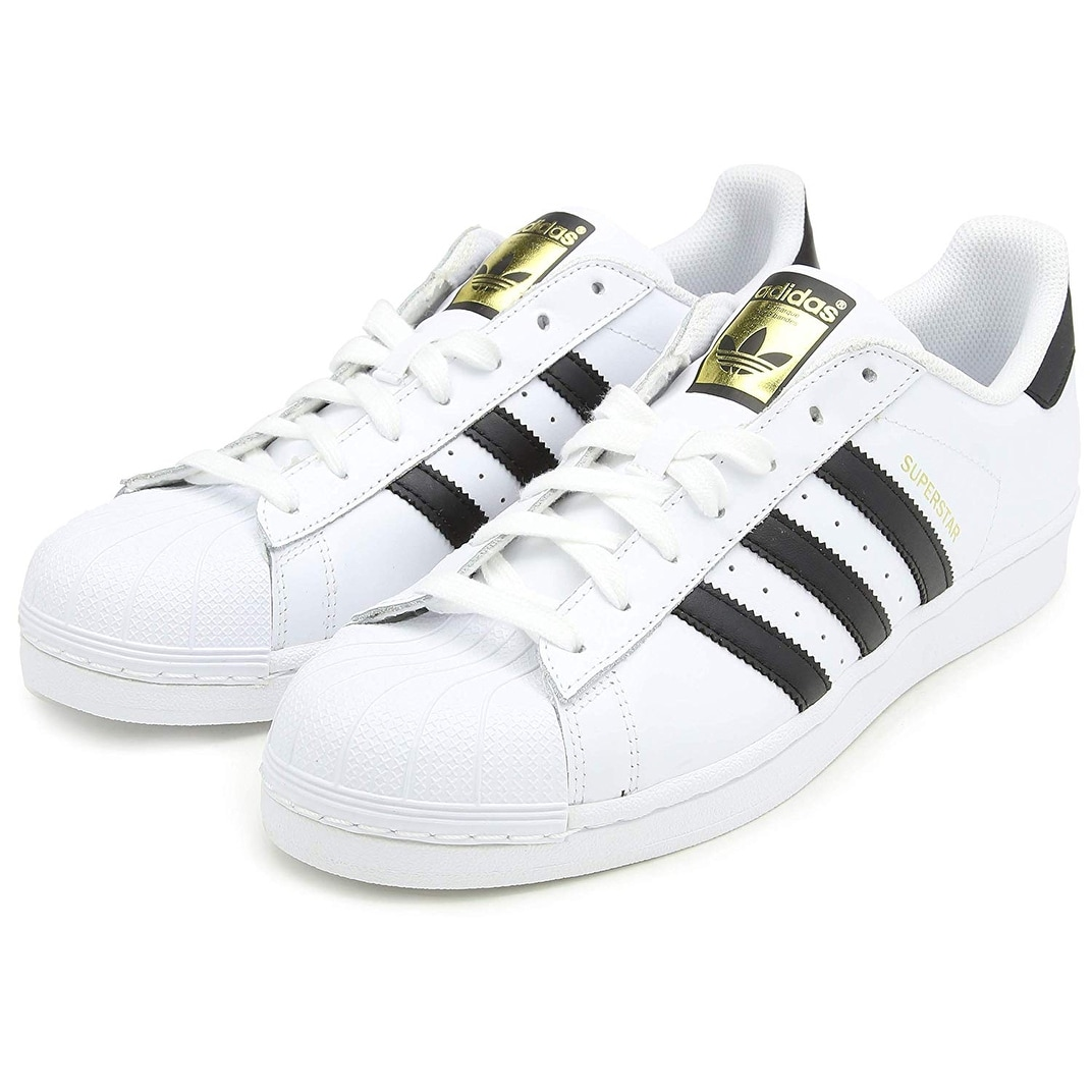 cheap for discount 770a3 0d5d0 Adidas Mens Superstar Leather Low Top Lace Up Fashion Sneakers