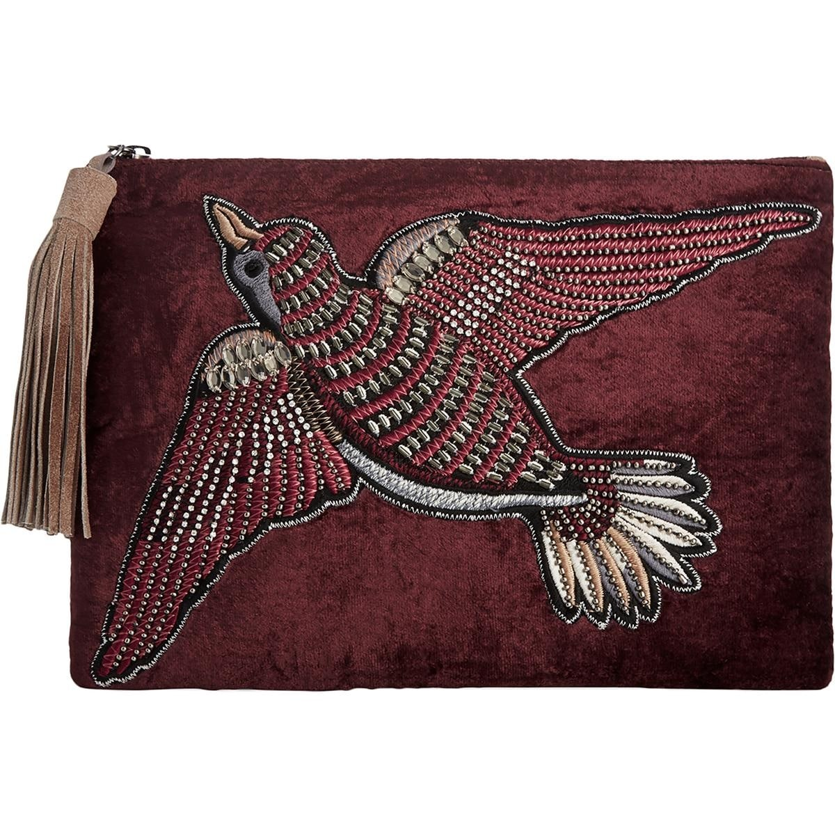 329f94609d7 Shop Sam Edelman Womens Carol Clutch Handbag Embroidered Velvet - Medium -  Free Shipping On Orders Over  45 - Overstock - 18908761