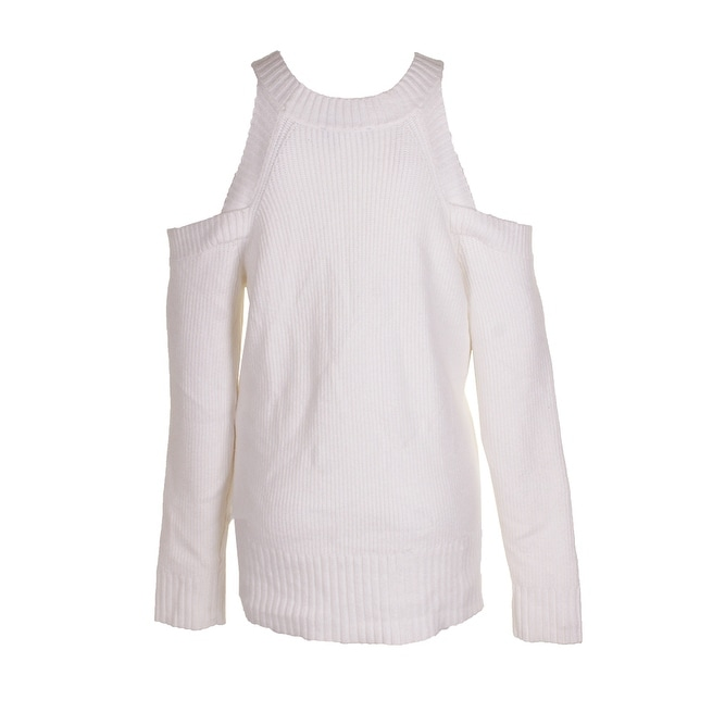 b585d1908a30b Shop Inc International Concepts White Embellished Cold-Shoulder Crew Neck  Sweater XXL - Free Shipping On Orders Over  45 - Overstock.com - 24177084