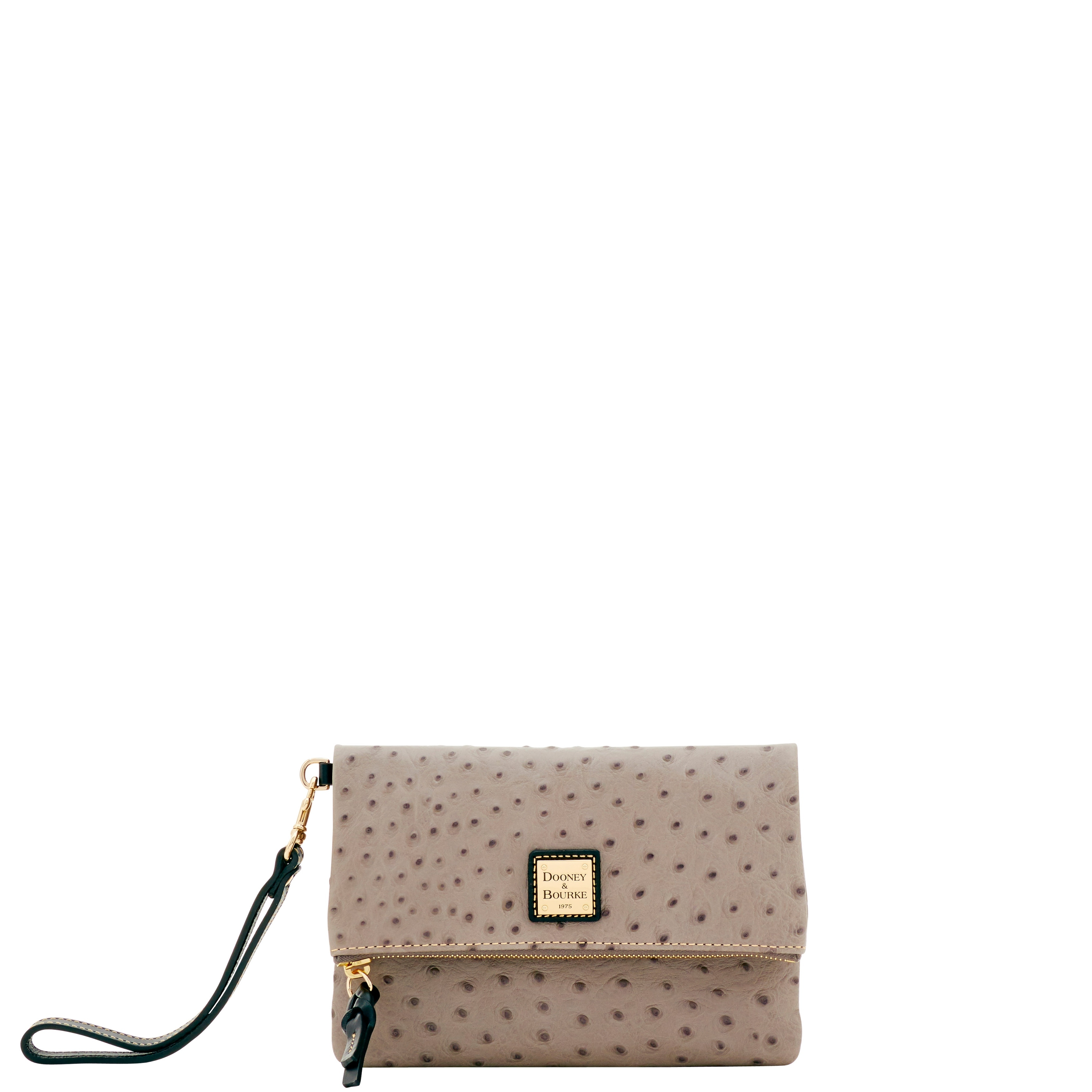 b509211687a4 Dooney & Bourke Ostrich Embossed Leather Foldover Wallet (Introduced by  Dooney & Bourke at $118 in May 2017)