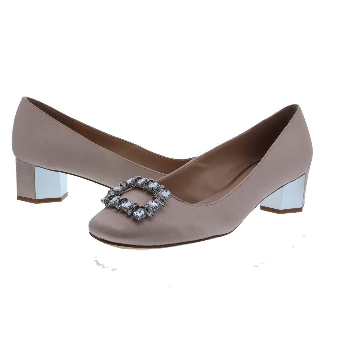a6626b369b0 Shop Karl Lagerfeld Paris Womens Calina7 Block Heels Solid Satin - Free  Shipping On Orders Over  45 - Overstock - 21139754