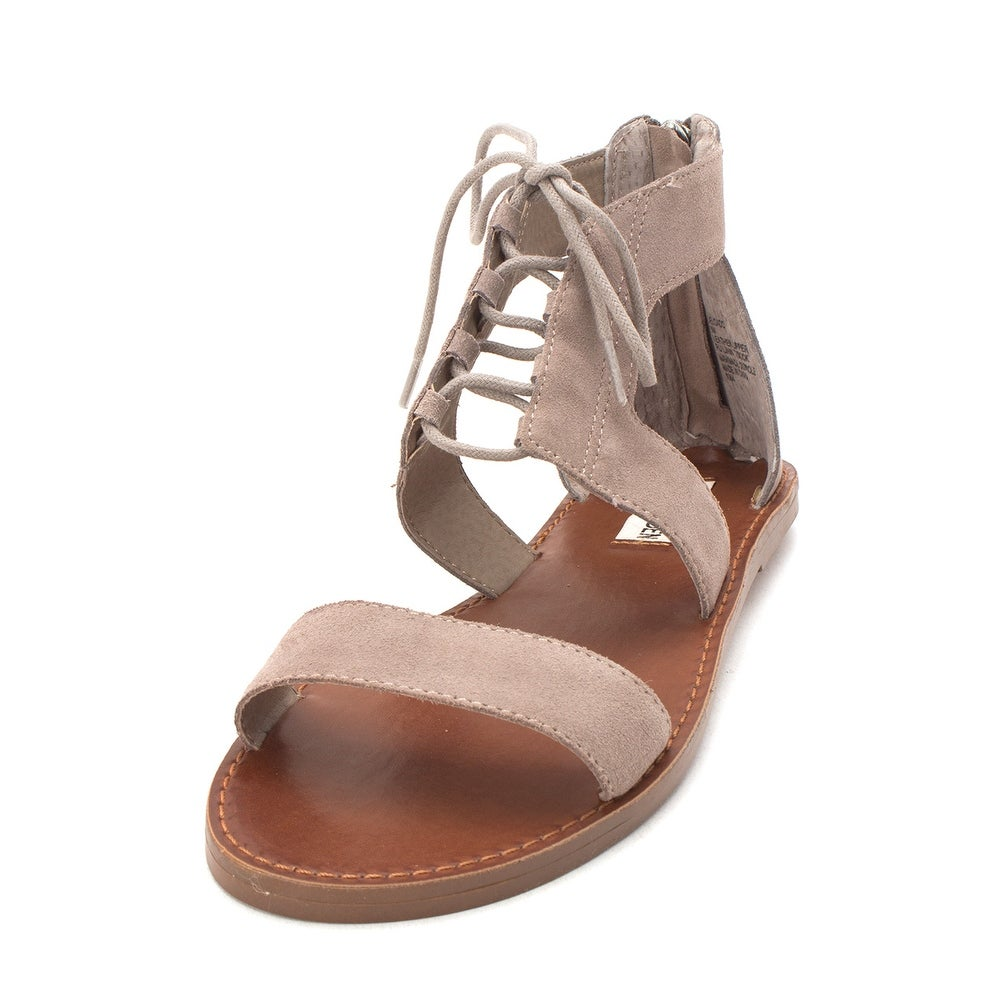 a50197178ec Shop Steve Madden Womens Delgado Leather Open Toe Casual Strappy Sandals -  Free Shipping Today - Overstock - 27066621