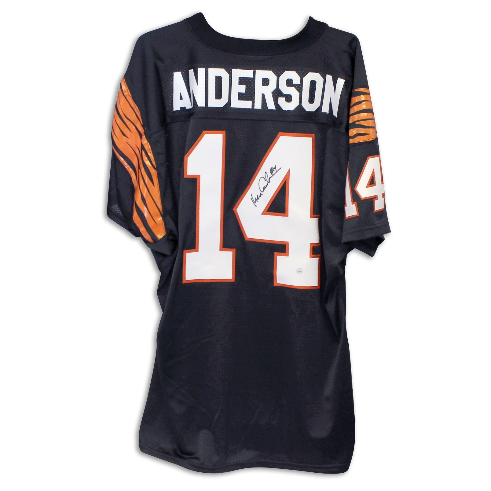 Shop Ken Anderson Cincinnati Bengals Autographed Black Jersey - Free  Shipping Today - Overstock.com - 12608949 f1f11c4fc