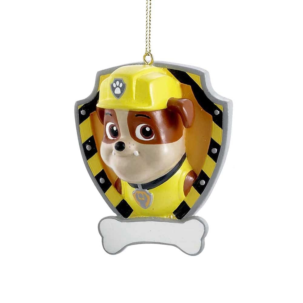 shop paw patrol resin personalization christmas ornament rubble free shipping on orders over 45 overstockcom 13821250
