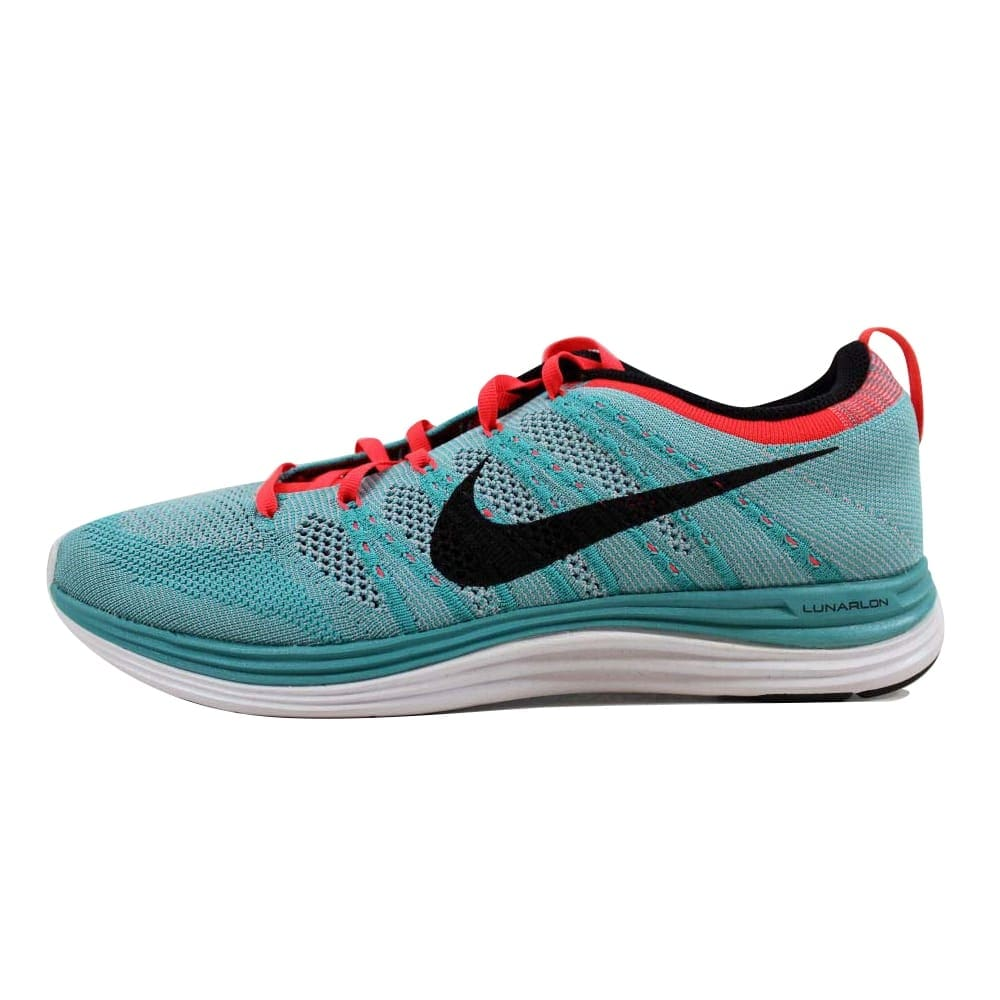 c57f3eebf0fb Shop Nike Flyknit Lunar1+ Sport Turquoise Black-Wolf Grey Women s 554888-300  Size 11 Medium - Free Shipping Today - Overstock - 22531479