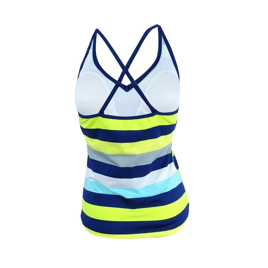 bfcb703a76cec Shop Jag Women's Striped Tankini Top (XS, Turquoise/Aqua) - turquoise/aqua  - XS - Free Shipping On Orders Over $45 - Overstock.com - 21255790