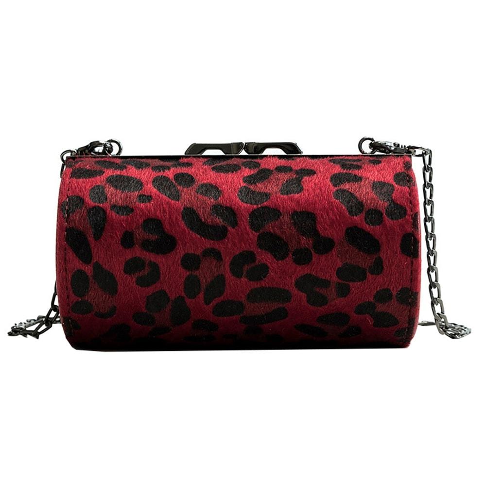 LONI Womens Crossbody Shoulder Bag Handbag in Faux Fur Animal Print
