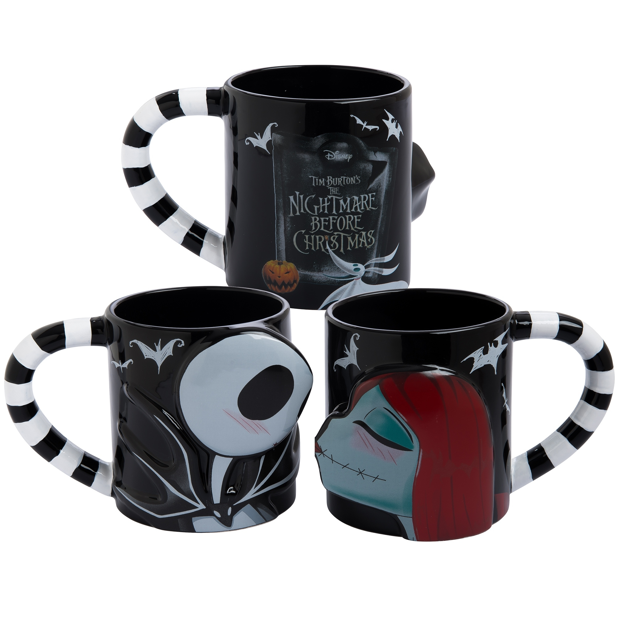 Shop The Nightmare Before Christmas Jack & Sally 2 pc Sculpted Mug ...