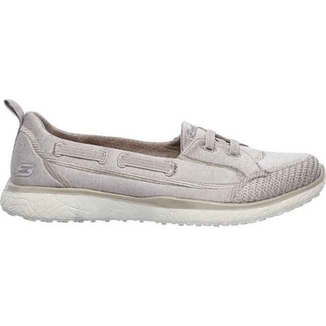 Skechers Women's Microburst Topnotch Walking Slip On Taupe
