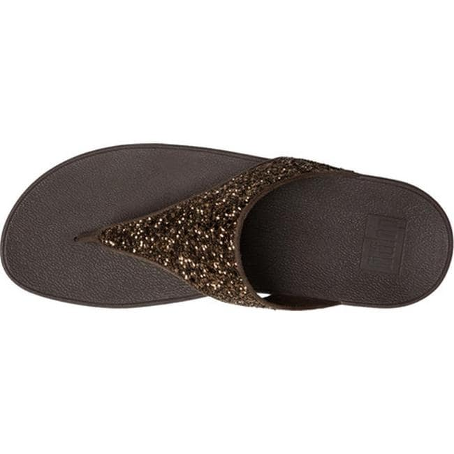 8c9c61b4b39f Shop FitFlop Women s Glitterball Wedge Thong Sandal Bronze Imi-Leather  Glitter - Free Shipping Today - Overstock - 16995584
