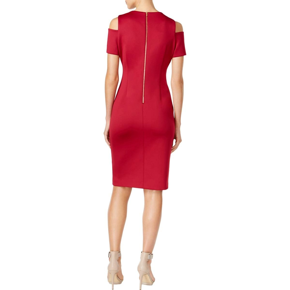 f2df9f1bc74 Shop Calvin Klein Womens Party Dress Cocktail Cold Shoulder - Free Shipping  Today - Overstock - 22890882