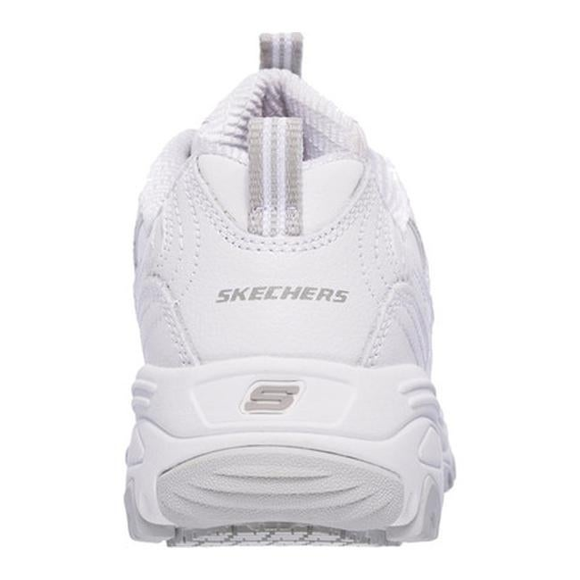 3cc037f140b1 Shop Skechers Women s Work D Lites Slip Resistant Marbleton Sneaker White -  Free Shipping Today - Overstock - 14658068