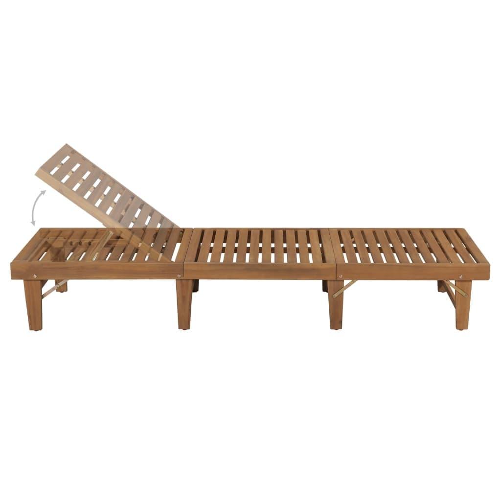 Vidaxl Folding Sun Lounger Solid Acacia Wood