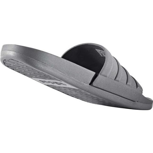 55cf3b847 Shop adidas Men s Adilette Cloudfoam Plus Slide Grey Three Grey Three Grey  Three - Free Shipping On Orders Over  45 - Overstock - 19798623