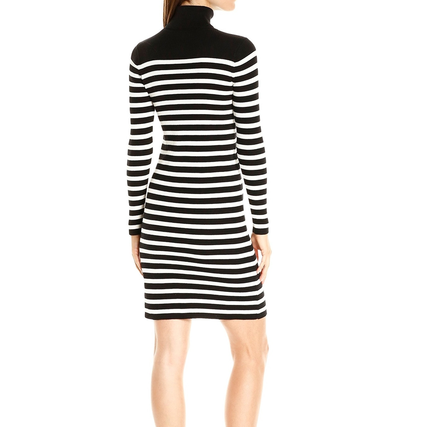 838a5475d20 Shop Vince Camuto NEW Black Womens Size XL Striped Turtleneck Sweater Dress  - Free Shipping On Orders Over  45 - Overstock - 18358554