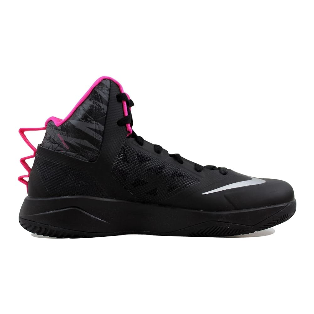 cheap for discount c8079 6f531 Shop Nike Zoom Hyperfuse 2013 Black Metallic Silver-Dark Grey-Pink  615896-002 Men s - On Sale - Free Shipping Today - Overstock - 21892934