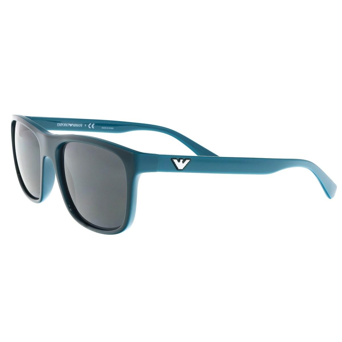 06d148835b Shop Emporio Armani EA4085 555487 Teal Square Sunglasses - 56-18-145 - Free  Shipping Today - Overstock.com - 19518860