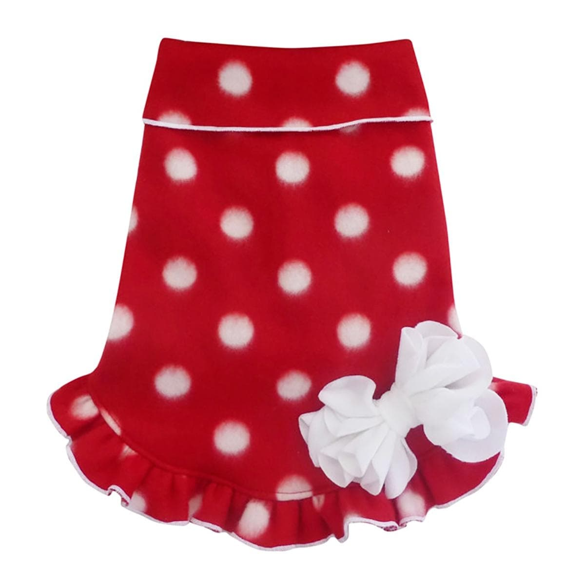 b3561df212 Shop Polka Dot Holiday Pullover Dog Dress - Red and White - Medium - Free  Shipping Today - Overstock - 22667218
