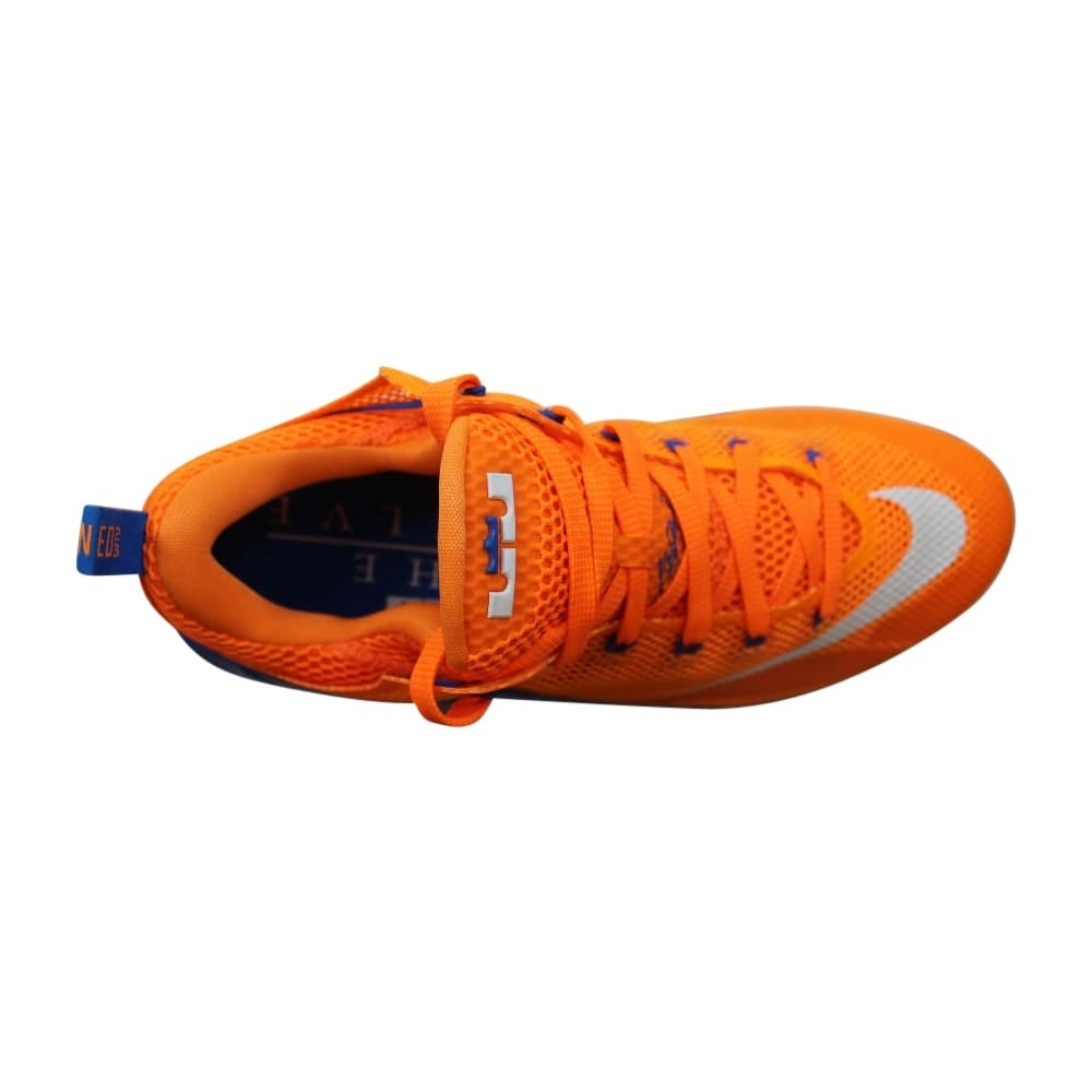 huge discount 95c4f 74bbe Shop Nike Lebron XII 12 Low Bright Citrus White-Total Orange-Soar  724557-838 Men s - Free Shipping Today - Overstock - 27993568