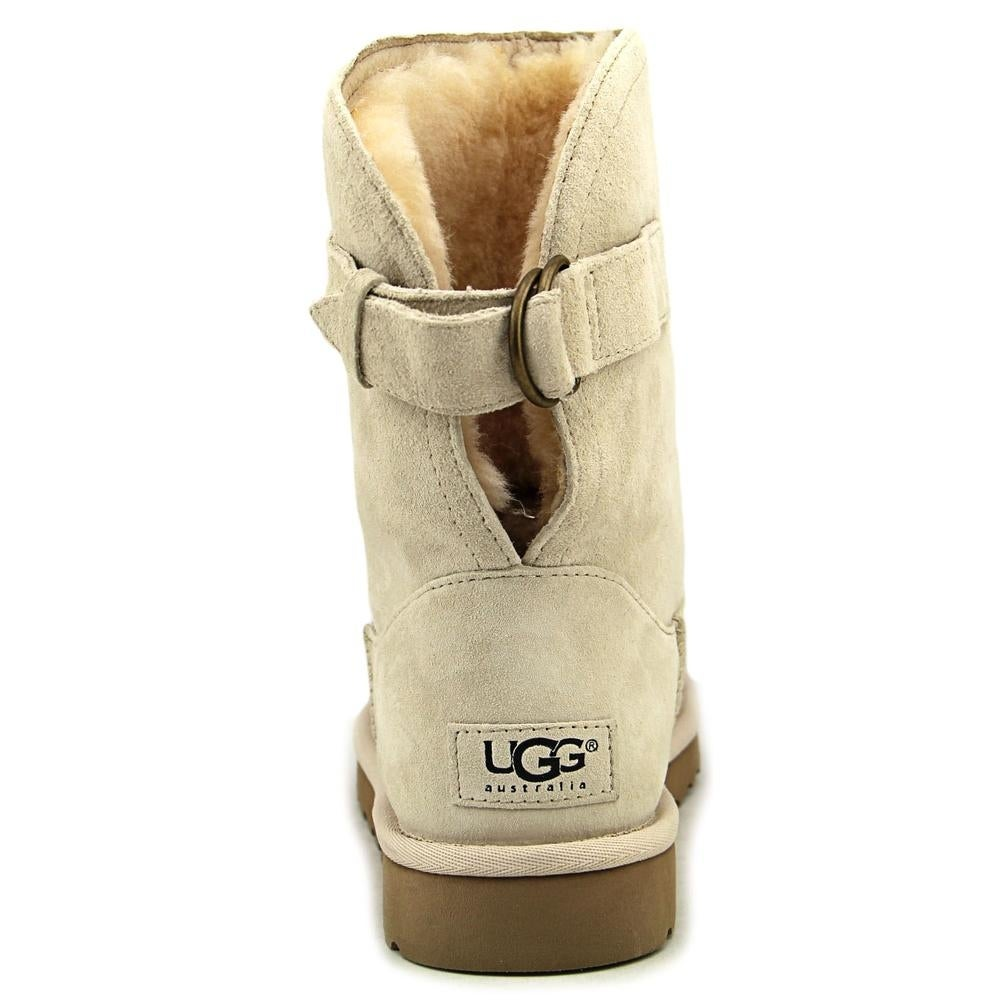 63c51ec57ce Ugg Australia Remora Women Round Toe Leather White Winter Boot