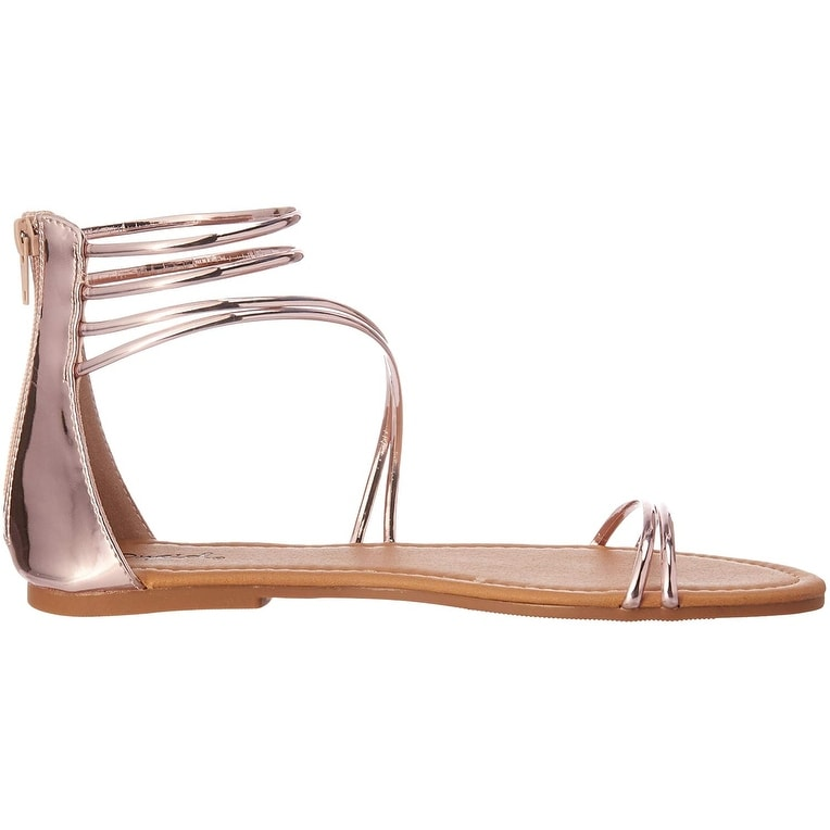 b89e60e92 Shop Qupid Women s Caged Flat Sandal - On Sale - Free Shipping On Orders  Over  45 - - 23130771