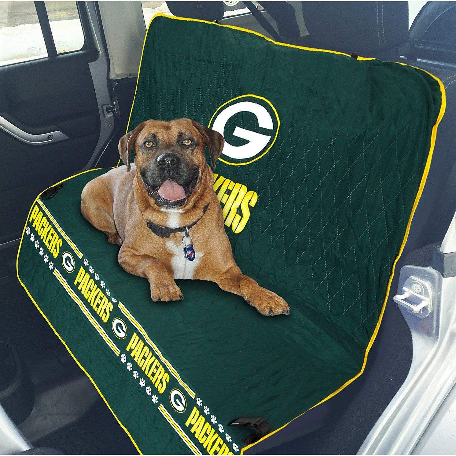 9c855cc7ac7 Shop Pets First NFL Green Bay Packers Pet Car Seat Cover - On Sale - Free  Shipping Today - Overstock - 14792110