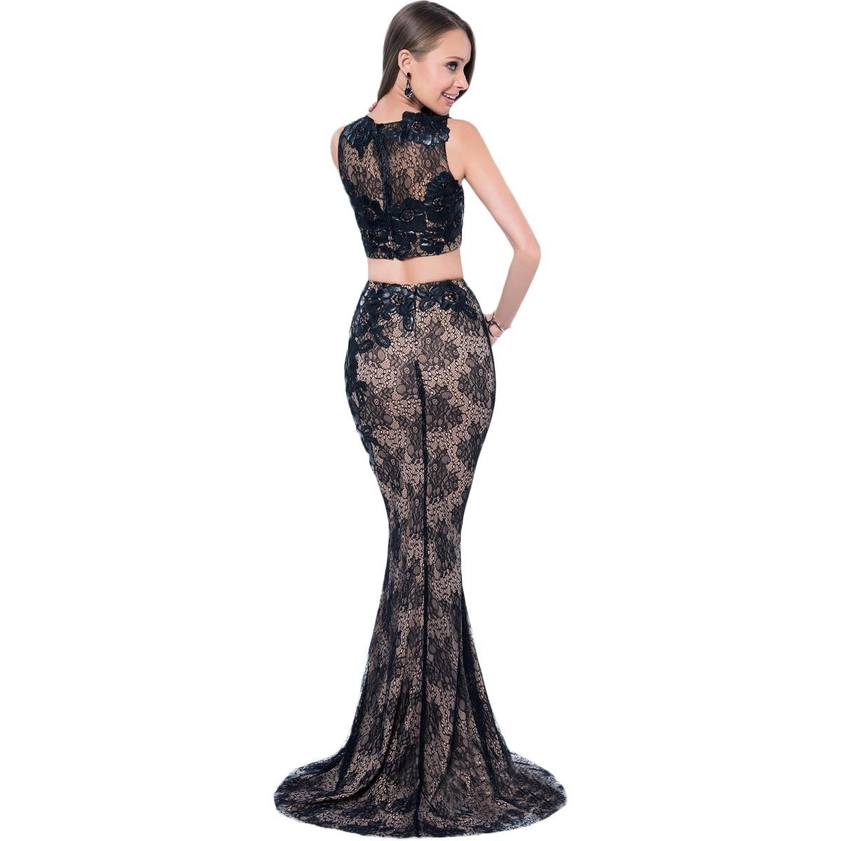 736cd13be78 Shop Terani Couture Beaded Prom Crop Top Dress - Free Shipping Today ...