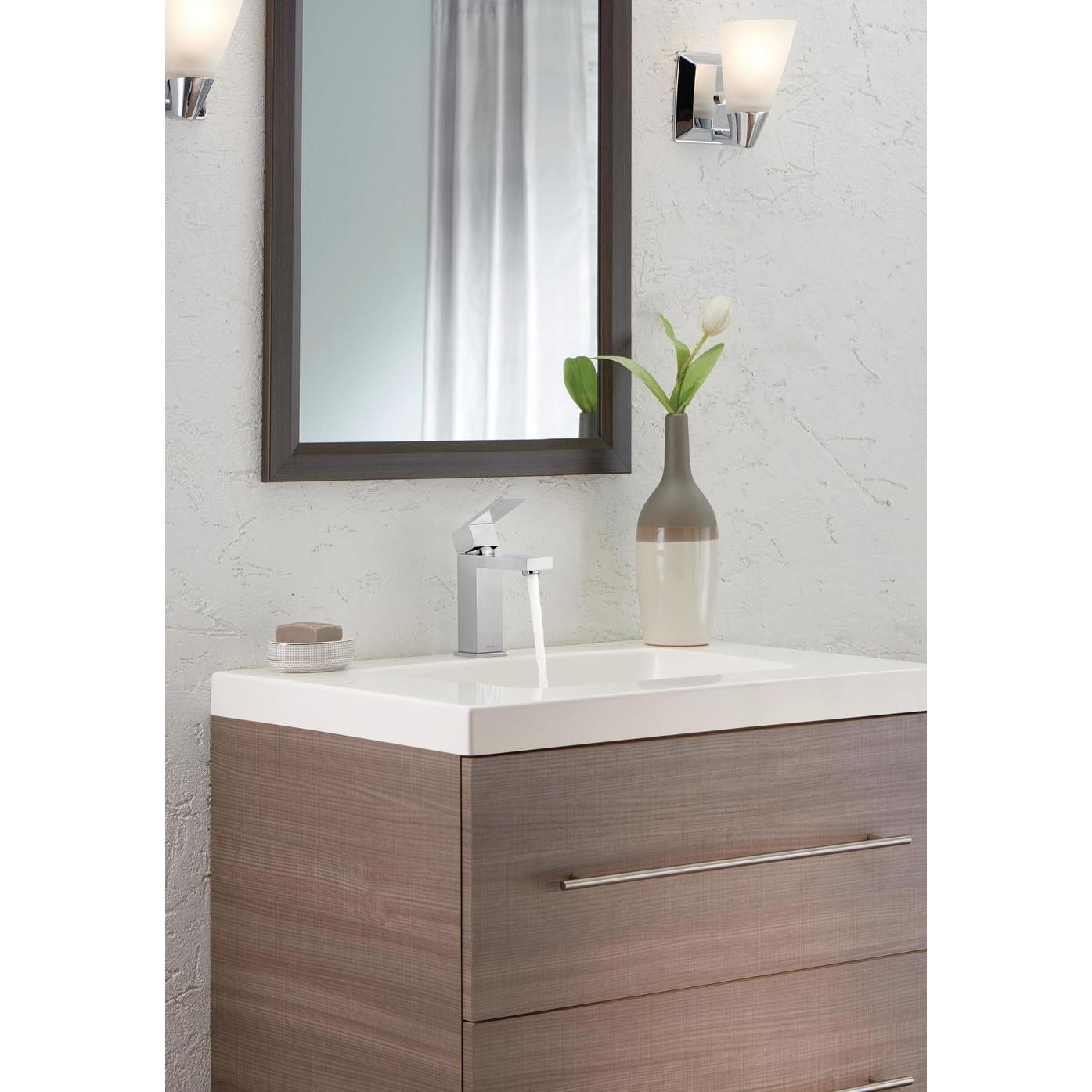 Shop Delta 567lf Pp Angular Modern Single Hole Bathroom Faucet With