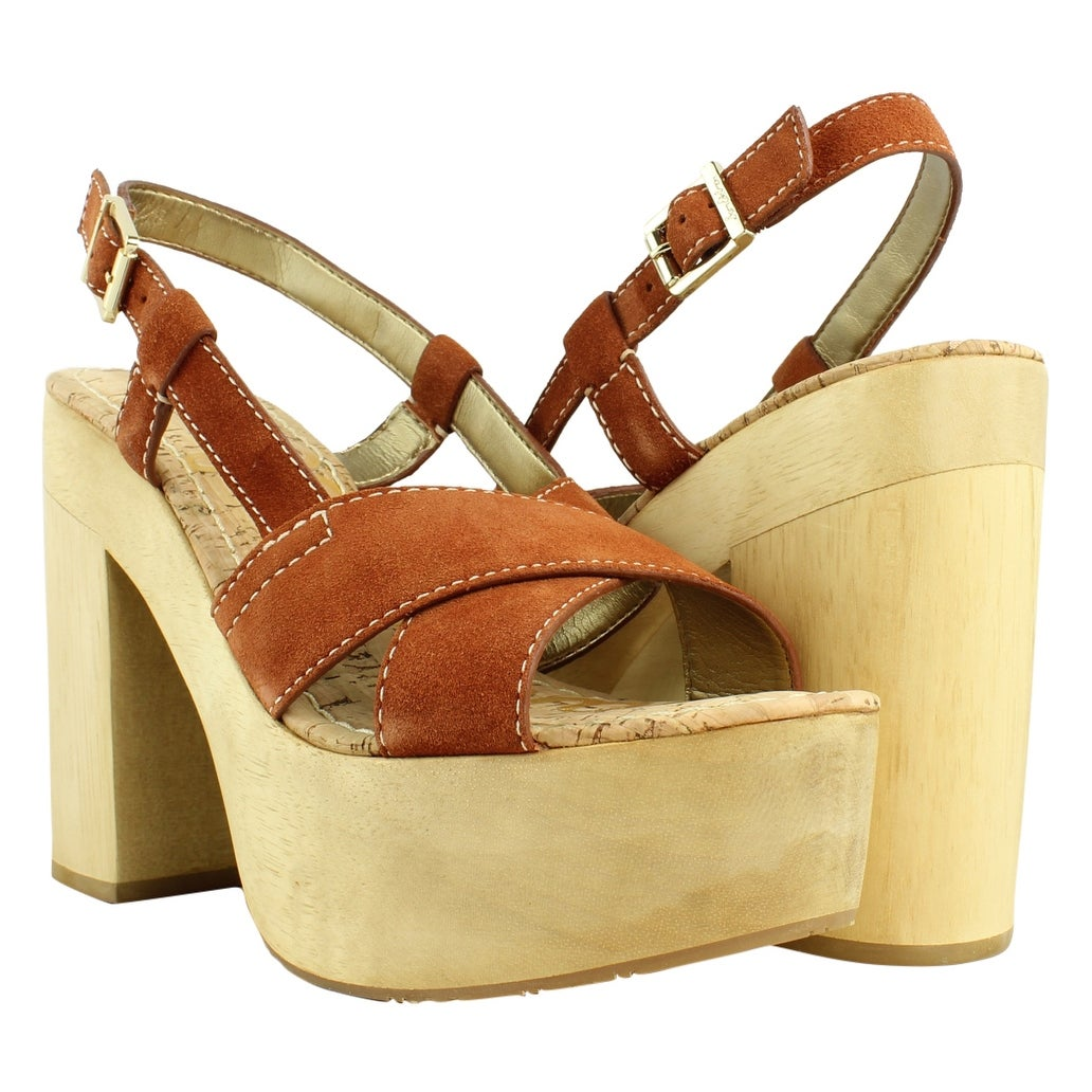 a22bbfecdc6602 Shop Sam Edelman Womens Mae GingerSpice Peep Toe Sandals Size 10 - On Sale  - Free Shipping On Orders Over  45 - Overstock.com - 23623993