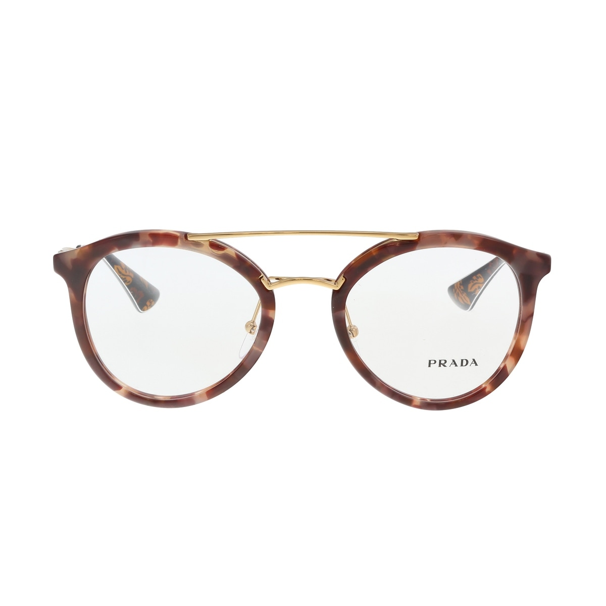 00ac5fb53f Shop Prada PR 15TV UE01O1 Pink Havana Round Optical Frames - 50-21-140 -  Free Shipping Today - Overstock - 19547299