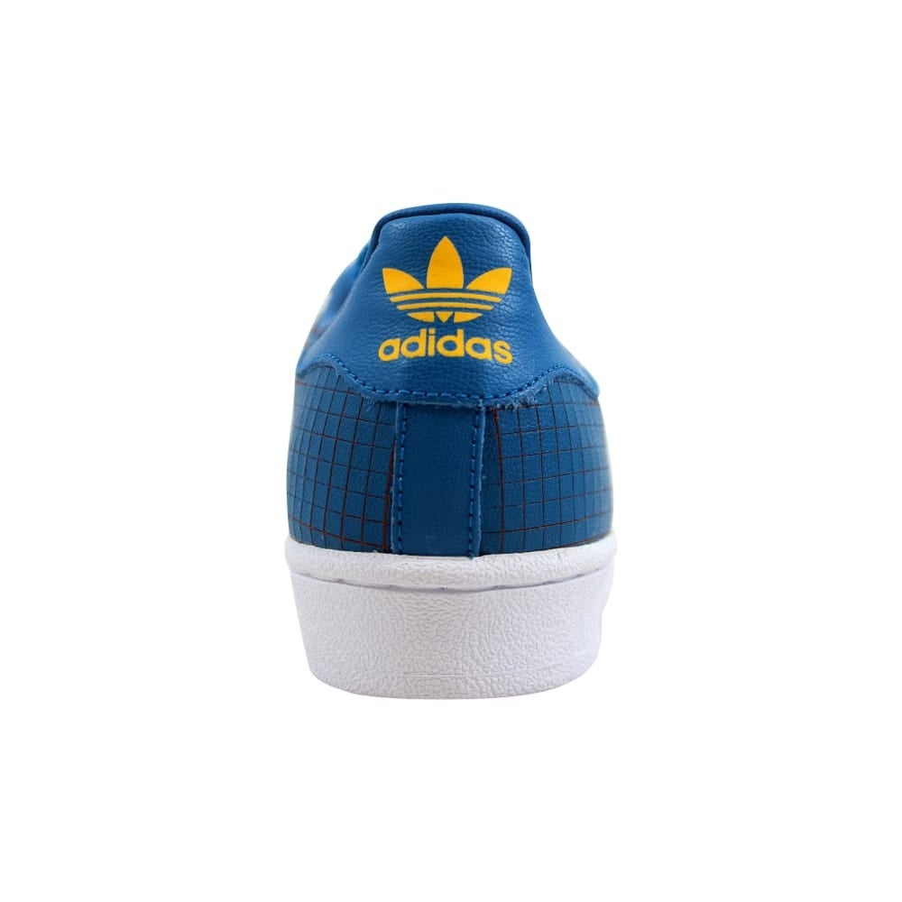 aeaba1fde8e3b Shop Adidas Superstar J Blue Gold-White F37789 Grade-School - Free Shipping  Today - Overstock - 27601044