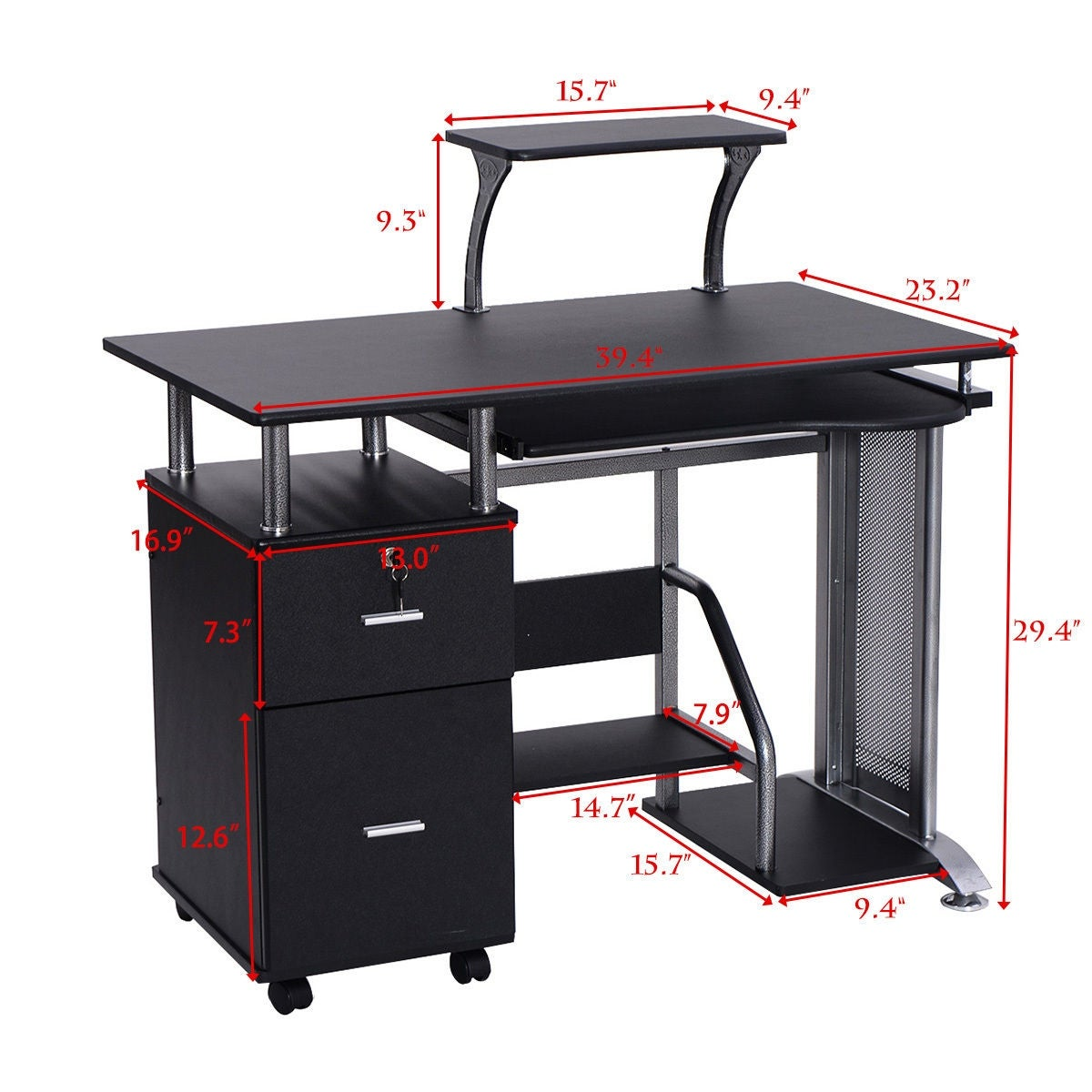 product garden shelves shipping today overstock pc writing computer laptop home desk workstation storage free shelf study with table costway