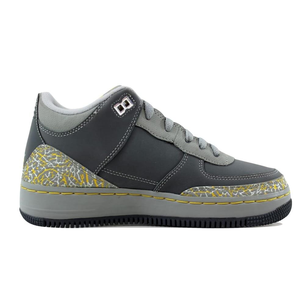 61a5c7a99051 Nike AJF 3 Air Jordan Fusion Flint Grey Varsity Maize-Silver Grade-School  323947-071 Size 4.5 Medium