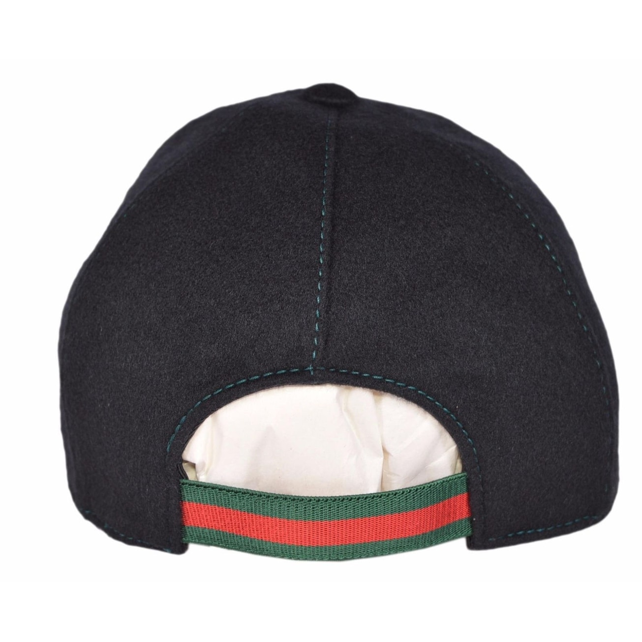 8b30a6a768d Shop Gucci 353505 Men s Black Felted Wool Red Green Band GG Baseball Cap Hat  Medium - Free Shipping Today - Overstock - 21498427
