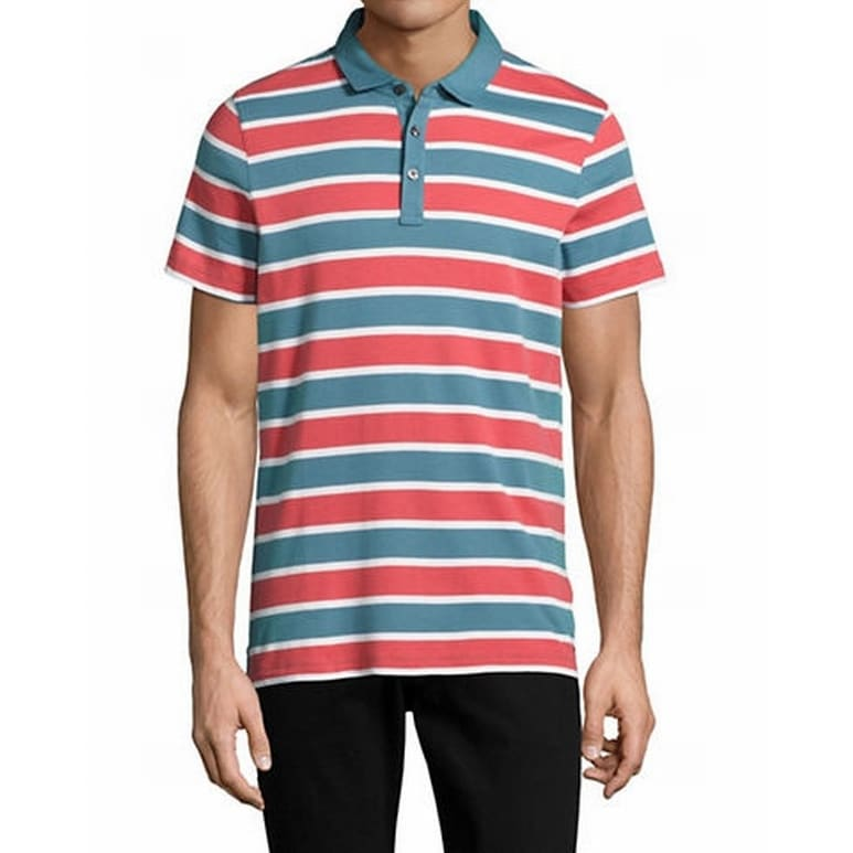 aa76ccd14 Shop Tommy Hilfiger NEW Red Blue Men s Size 2XL Stripe Knit Polo Shirt -  Free Shipping On Orders Over  45 - Overstock - 18341113