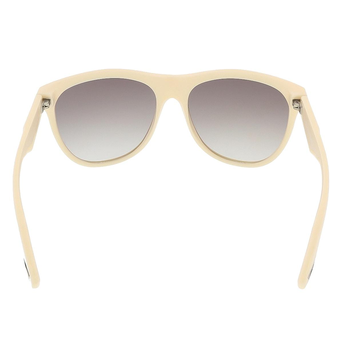Diesel DL0002 Wayfarer Sonnenbrille, Ivory Frame/Gradient Grey