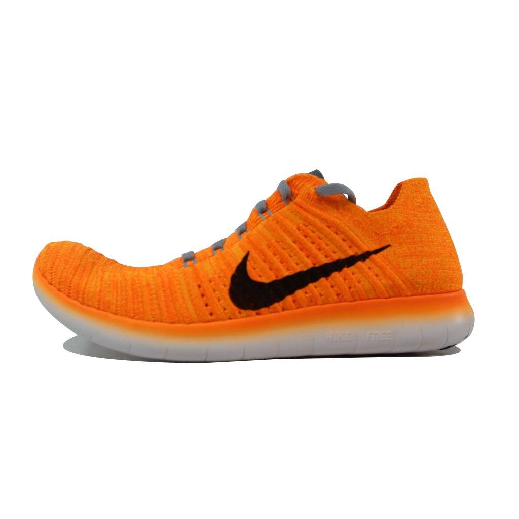 331655e5fbcd9 Shop Nike Women s Free RN Flyknit Laser Orange Black-Gamma Blue-Cool Grey  831070-800 Size 6.5 - Free Shipping Today - Overstock - 21893344