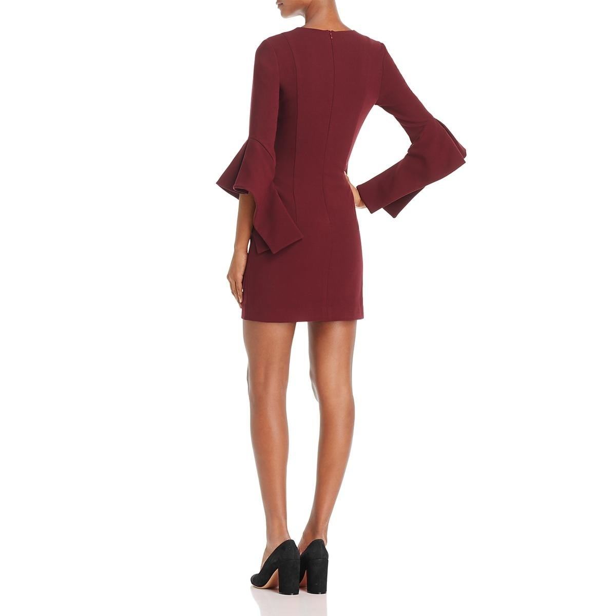 d3c1bfcd63 Shop Black Halo Womens Lorie Cocktail Dress Bell Sleeve Mini - Free  Shipping On Orders Over  45 - Overstock - 25723045