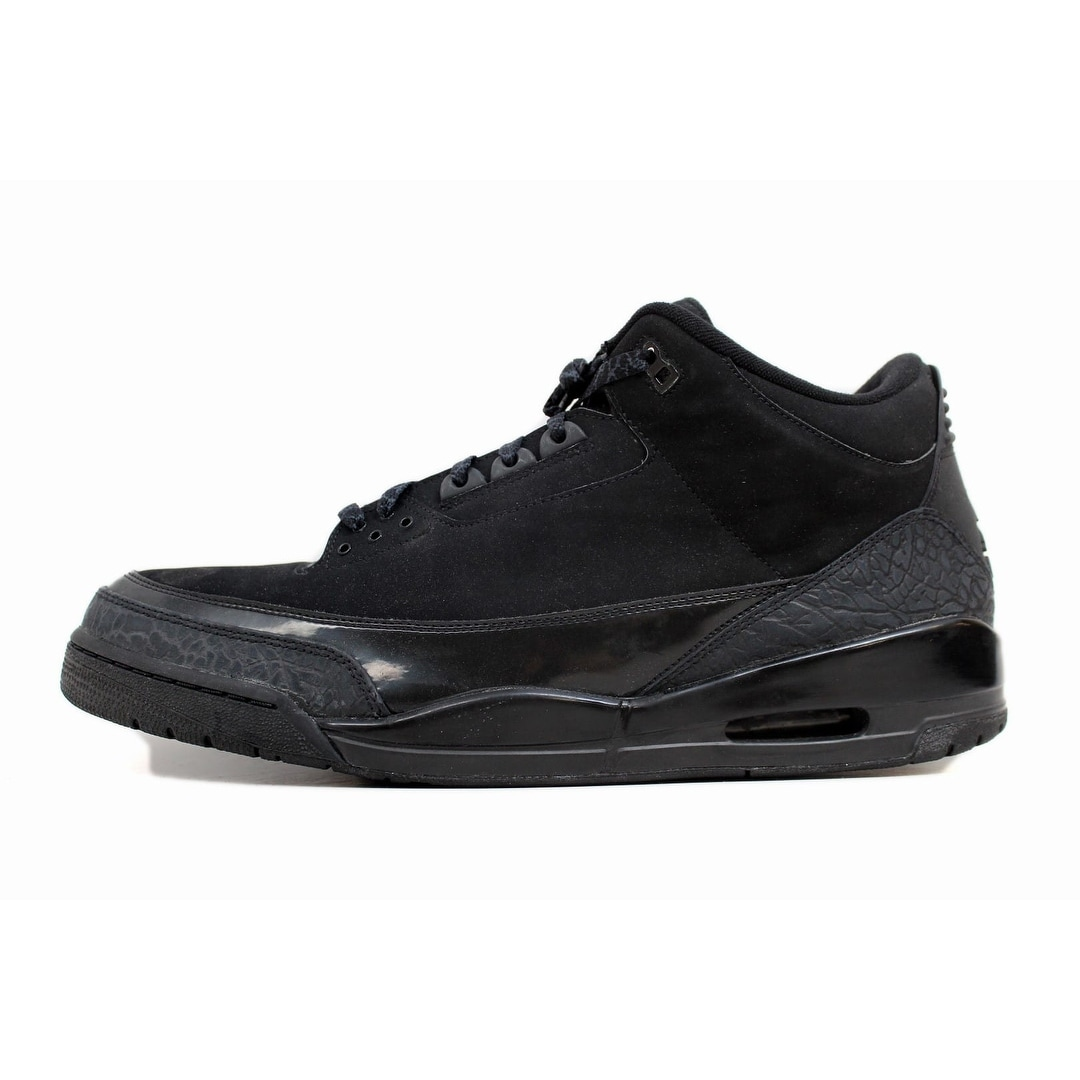 best website 1ebcd 0c07e Nike Men s Air Jordan III 3 Retro Black Dark Charcoal Black Cat 136064-002  Size 18